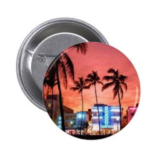 Miami Beach, Florida Pinback Button