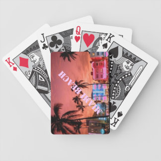 miami beach florida playing cards