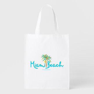 Miami Beach, Florida Reusable Grocery Bag
