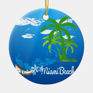 Miami Beach Florida Souvenir Ceramic Ornament