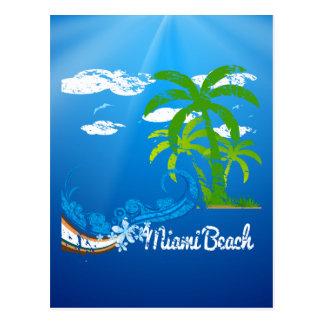 Miami Beach Florida Souvenir Postcard