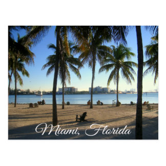 Miami Beach Florida, Sunset  Postcard