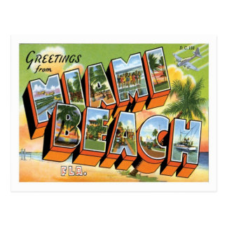 Miami Beach Florida Travel US City Postcard