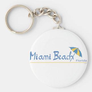 Miami Beach, Florida Umbrella Cool Keychain