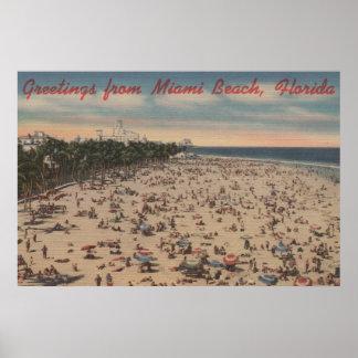 Miami Beach, FloridaGreetings FromMiami, FL Poster