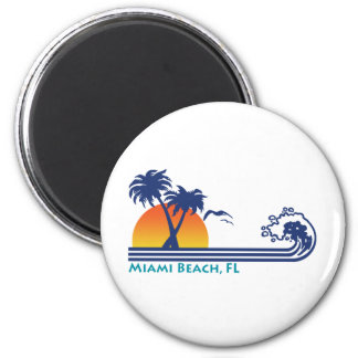 Miami Beach Fridge Magnet