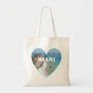 Miami Beach Heart Budget Tote