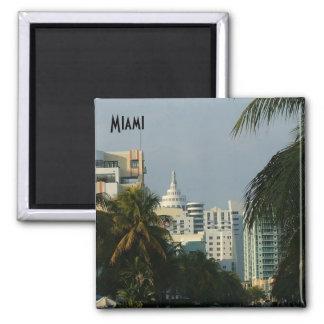 Miami Beach Imán Cuadrado