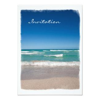 Miami Beach - invitación Invitación 12,7 X 17,8 Cm