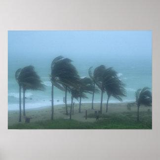Miami Beach, la Florida, el azotar de los vientos  Póster