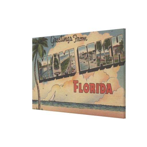 Miami Beach, la Florida - escenas grandes de la le Lona Envuelta Para Galerias