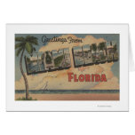 Miami Beach, la Florida - escenas grandes de la le Tarjeton