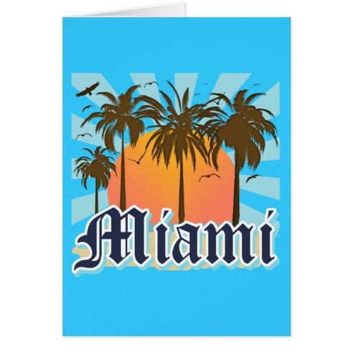 Miami Beach la Florida FLA Felicitacion