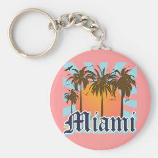 Miami Beach la Florida FLA Llavero Redondo Tipo Pin