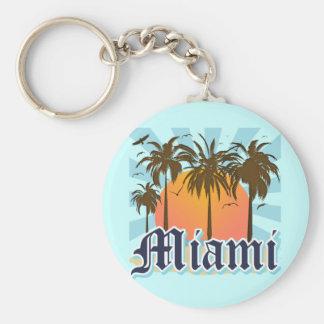 Miami Beach la Florida FLA Llavero Personalizado