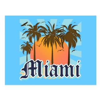 Miami Beach la Florida FLA Postales