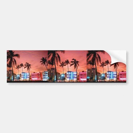 Miami Beach, la Florida Pegatina De Parachoque