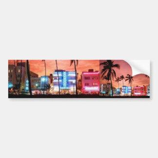Miami Beach, la Florida Pegatina Para Auto