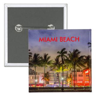 MIAMI BEACH LA FLORIDA PIN CUADRADA 5 CM