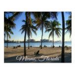 Miami Beach la Florida, postal de la puesta del