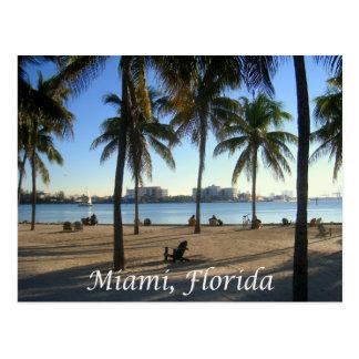 Miami Beach la Florida, postal de la puesta del so