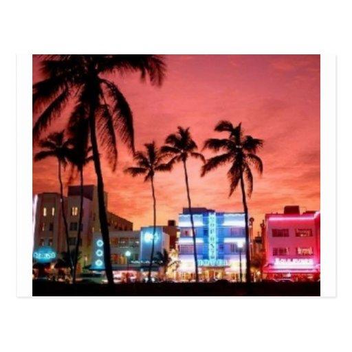 Miami Beach, la Florida Postales