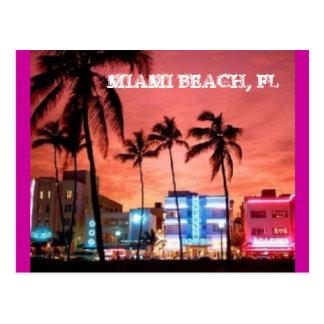 Miami Beach, la Florida Tarjetas Postales