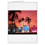 Miami Beach, la Florida Tarjeton