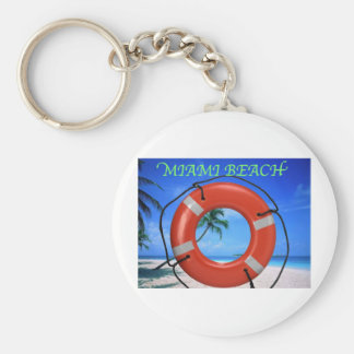 MIAMI BEACH LIFE SAVER KEYCHAIN