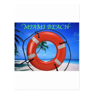 MIAMI BEACH LIFE SAVER POSTCARD