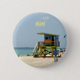 Miami Beach Lifeguard Shack Button