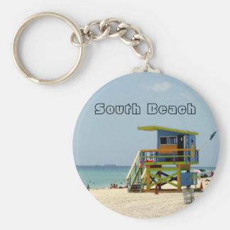 Miami Beach Lifeguard Shack Keychain
