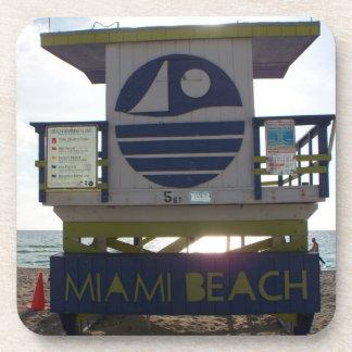 Miami Beach lifeguard tower Drink Coaster