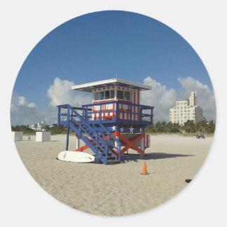 Miami Beach Lifeguards Beach Patrol #02 Classic Round Sticker