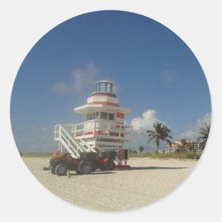 Miami Beach Lifeguards Ocean Patrol #03 Classic Round Sticker