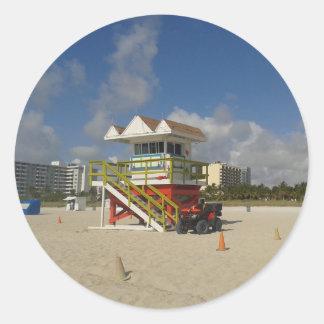 Miami Beach Lifeguards Ocean Patrol #05 Classic Round Sticker