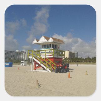 Miami Beach Lifeguards Ocean Patrol #05 Square Sticker