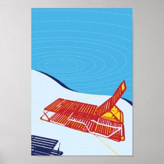 Miami Beach Lounge Pool Poster