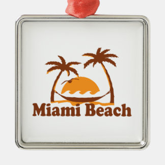 Miami Beach. Metal Ornament