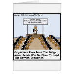 Miami Beach Ostrich Convention Funny Gifts & Tees Greeting Card