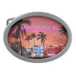 MIAMI BEACH OVAL BELT BUCKLES