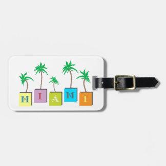 Miami Beach Palms Bag Tag