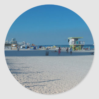 Miami Beach Pegatina Redonda