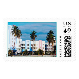 Miami Beach Photography Postage Stamp