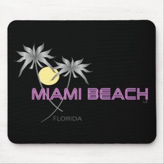 Miami Beach Pink Grey Mouse Pad
