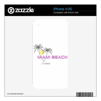 Miami Beach Pink Grey Skin For iPhone 4