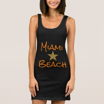 Beach Themed Miami Beach Star Tank Dress