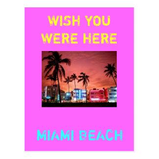 MIAMI BEACH POSTALES