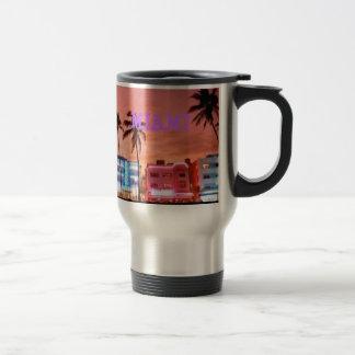 MIAMI beach Travel Mug