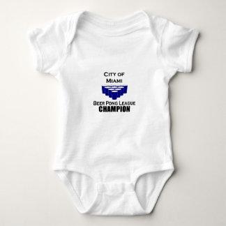Miami Beer POng Champion Baby Bodysuit